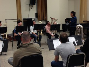 Yasuhito Sugiyama], tubist with the Cleveland Orchestra,works with low brass students at the BSOM